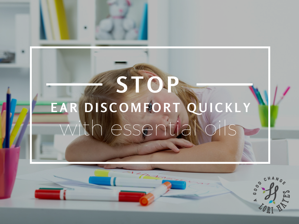 Stop ear discomfort quickly with essential oils