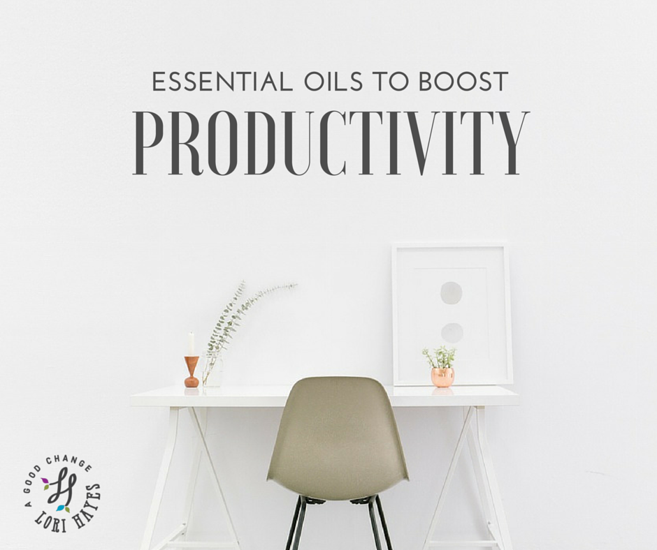 Essential oils to boost productivity